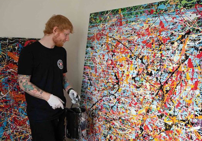 Ed Sheeran diventa pittore per beneficenza